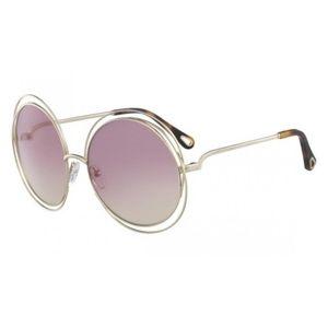 NWT Chloé CE114SD 62mm Round Sunglasses